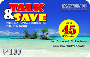 PANTELCO Talk & Save International / Domestic Prepaid Card